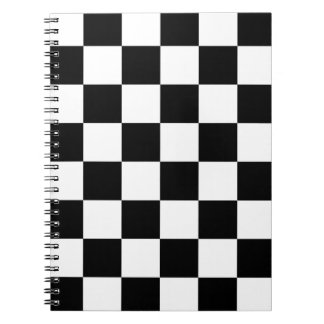 Black and White Checkered Pattern Gifts Spiral Notebook