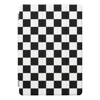 Black and White Checkered Pattern iPad Pro Cover