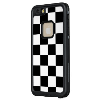 Black and White Checkered Pattern LifeProof® FRĒ® iPhone 6/6s Plus Case