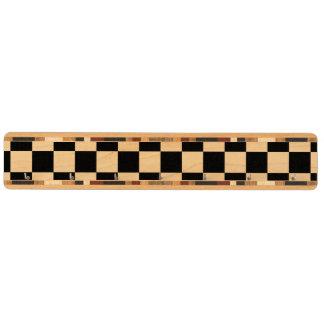 Black and white checkered pattern maple key rack
