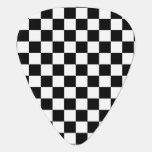 Black and white checkered pattern pick