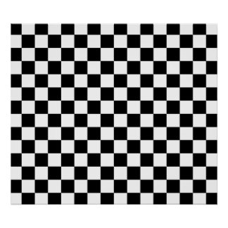 Black and white checkered pattern poster