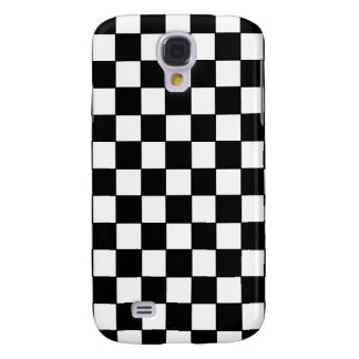 Black and White Checkered Pattern Samsung S4 Case