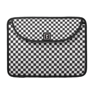 Black And White Checkered Pattern Sleeve For MacBook Pro