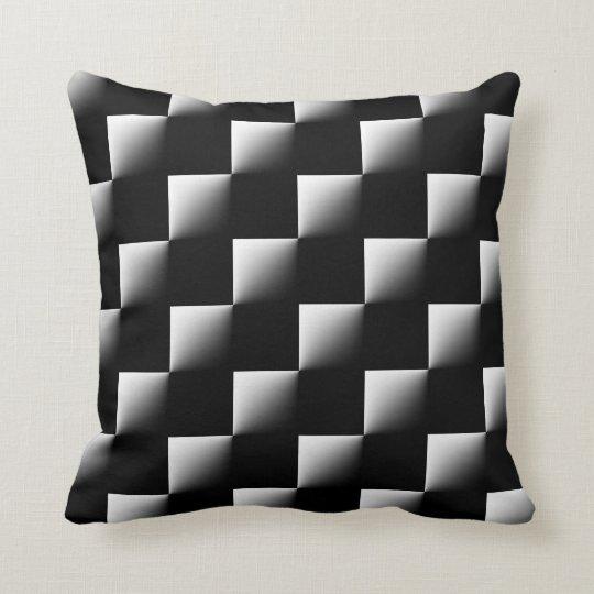 Black And White Checkered Pattern Throw Pillow Zazzlecom