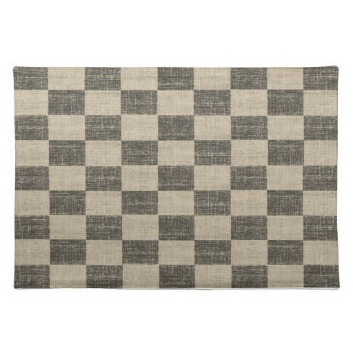 black and white checkered placemat zazzle. Black Bedroom Furniture Sets. Home Design Ideas