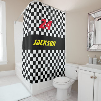 Checkered Shower Curtains   Zazzle