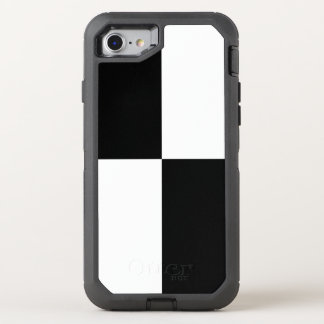 Black and White Checkered Rectangles OtterBox Defender iPhone 7 Case