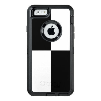 Black and White Checkered Rectangles OtterBox Defender iPhone Case
