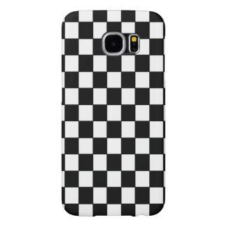 Black and White Checkered - Samsung Galaxy S6 Case
