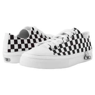 Black and White Checkered Sneakers