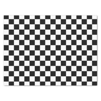 "Black and White Checkered Squares 15"" X 20"" Tissue Paper"