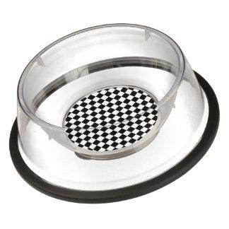 Black and White Checkered Squares Bowl