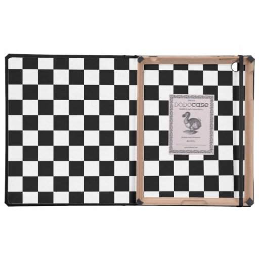 Black and White Checkered Squares Covers For iPad