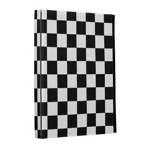 Black and White Checkered Squares iPad Folio Cover