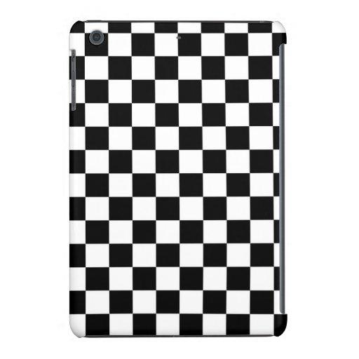 Black and White Checkered Squares iPad Mini Covers