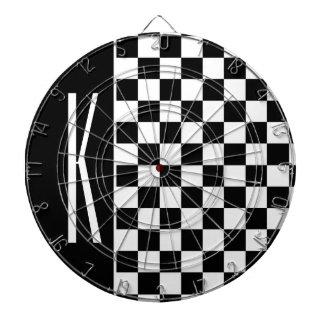Black and White Checkered Squares Dartboard