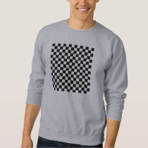 Black and White Checkered Squares Men's Sweater