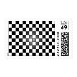 Black and white checkered stamp