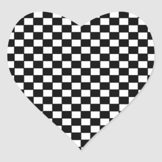 Black and White Checkered Sticker