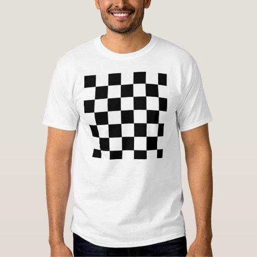 Black and white checkered t shirt zazzle for Black and white checker shirt
