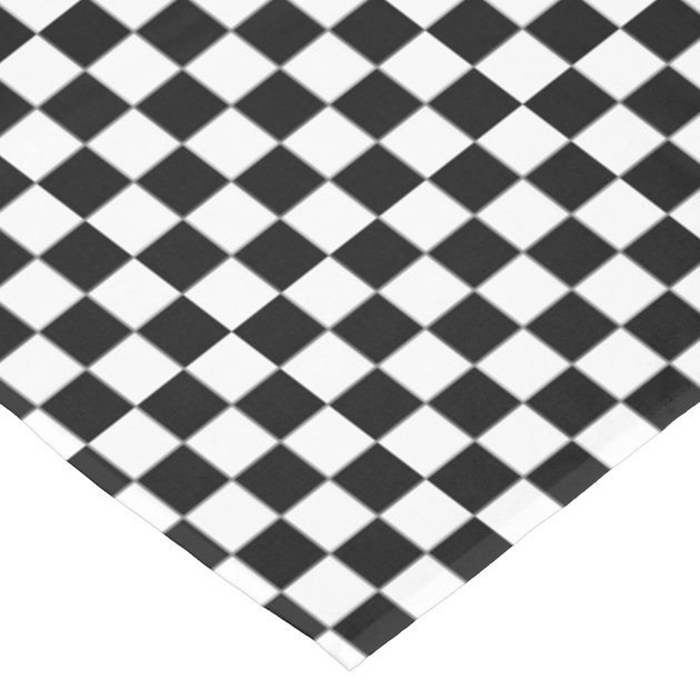 This black & white tablecloth is often see in low-key food establishments, such as seafood restaurants, delis, and diners. The checkered pattern is casual to set a laid back tone in the venue. Many caterers use the black & white tablecloth for events due to the classic look.
