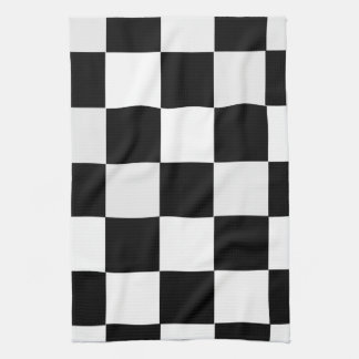 Black and White Checkered Towel