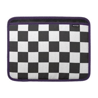 Black and White Checkers MacBook Air Sleeve