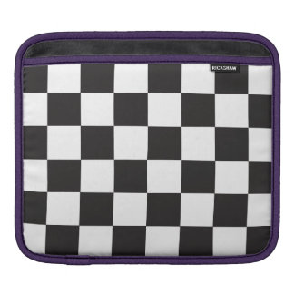 Black and White Checkers Sleeves For iPads