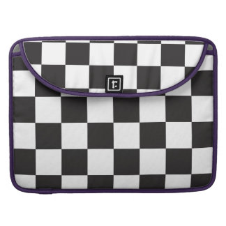 Black and White Checkers Sleeves For MacBook Pro