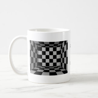 Black and White Checkers Mug