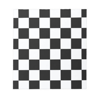 Black And White Checkers Notepad