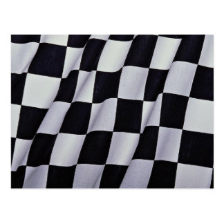 Black and white checkers postcards