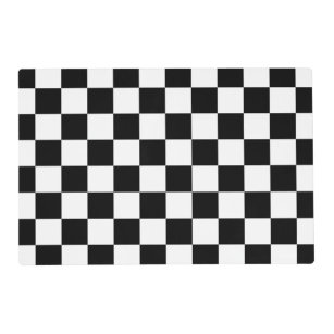 Black And White Checks Paper Placemats