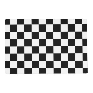 Black and White Checks Paper Placemats Laminated Place Mat