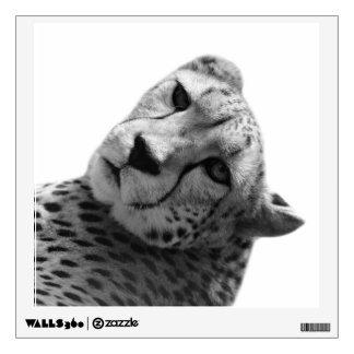 Black and white cheetah jungle animal photo wall decal