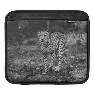 Black and White Cheetah Photograph, Animal iPad Sleeve