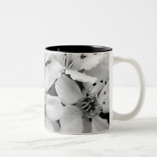 Black and White Cherry Blossom Mug