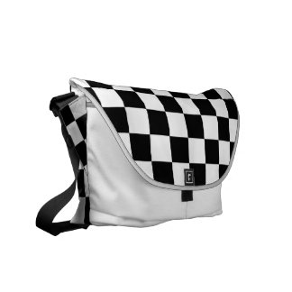 Black and White Chess Board Courier Bag