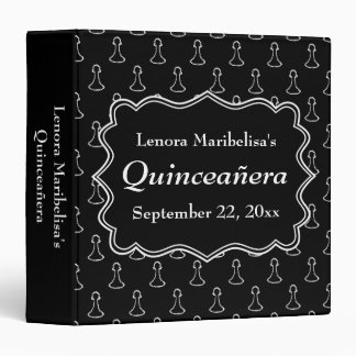 Black and White Chess Themed Quincenera Binder