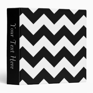 Black and White Chevron 3-Ring Binder