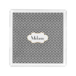 Black And White Chevron Custom Acrylic Tray