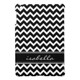 Black and White Chevron Custom Monogram Cover For The iPad Mini