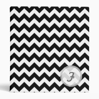 Black and White Chevron - Custom Text Binder