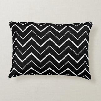 Black and White Chevron Decorative Pillow