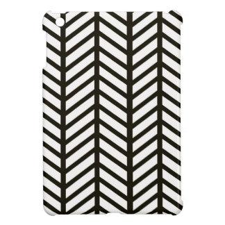 Black and White Chevron Folders Cover For The iPad Mini