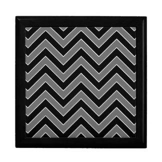 Black and White Chevron Jewelry Gift Box
