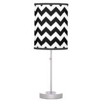 Black and White Chevron Lamp