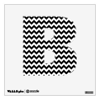 Black and White Chevron Letters and Numbers Wall Decal
