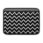 Black and White Chevron MacBook Sleeve